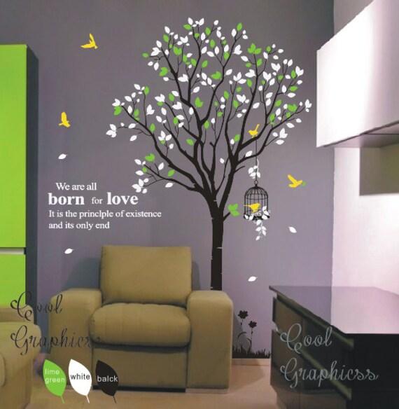 Kinderzimmer Wand baum abziehbild kinderzimmer wand aufkleber vinyl aufkleber