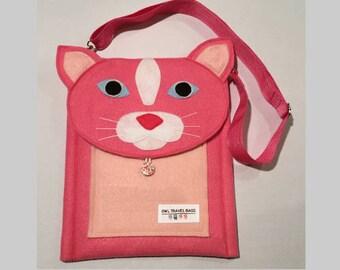 Pink Cat Travel Bag