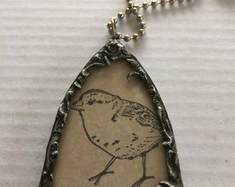 Bird soldered necklace