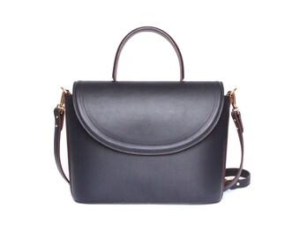 Navy AWAtelierParis Loulou blue leather handbag