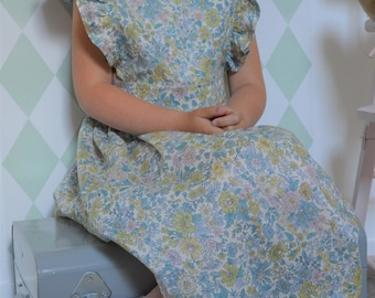 Dress liberty emily blue and green
