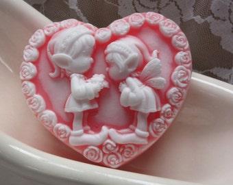 Lovely fairies/ elves/ heart soap/ glycerin soap