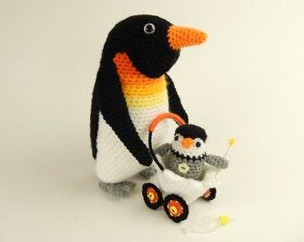 Papa Penguin and Pierre Baby Pierre - Amigurumi Crochet Pattern