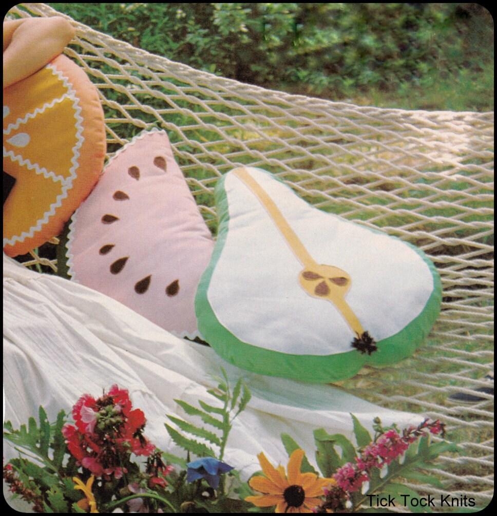 No.186 PDF Vintage Nähen Muster Obst werfen Kissen Birne