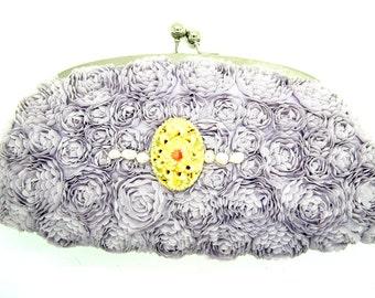 PURPLE CLUTCH BAG clutch purse evening lavender prom cute  wedding  pochette  wedding purse embellished  unique  mauve