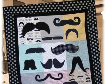 Mustache Love Quilt Pattern - PDF