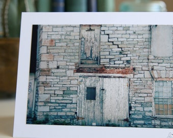 Old Brick Wall Photo Art Card