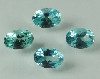 2 cts blue Apatite  6x4 mm faceted oval lot Madagascar