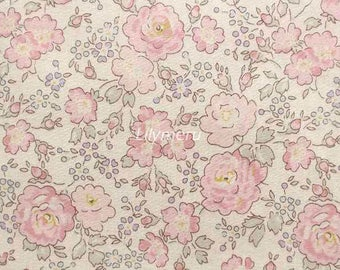 Liberty tana lawn printed in Japan - Felicite - Smoky lilac pink