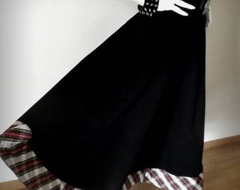 """Flared long skirt """"Kaliss"""" Plaid size 36"""