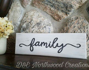 Homemade Family Rustic Wood Sign