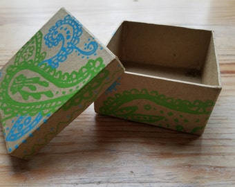 Blue and Green Paisely Gift Box