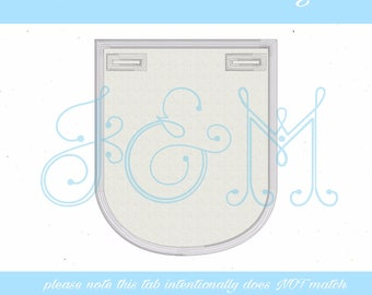 Collar Button On Tab Machine Embroidery Design