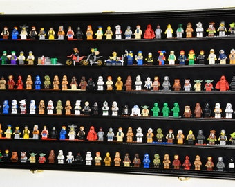 180 Lego Men / Legos / Mini Figures Minifigures / Display Case Cabinet - Lockable - 98% UV Protection