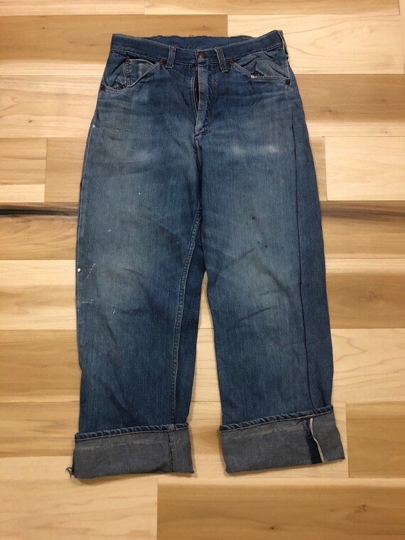 1950s Big Mac Selvedge Jeans Carpenter Chore Pants 29 waist