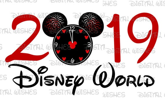 Countdown clock New Year 2019 Disney World Mickey Mouse head