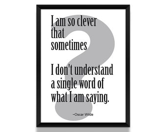 Oscar Wilde Quote, Oscar Wilde Poster, Literary Quote, Typographic Print