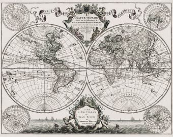 Old world map etsy popular items for old world map gumiabroncs Choice Image