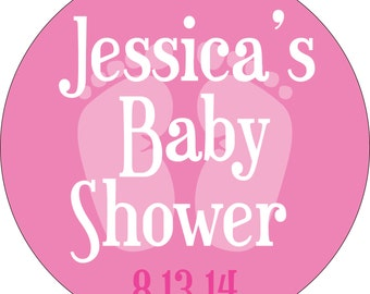 Personalized Glossy Boy/Girl/Neutral Baby Shower Stickers - many designs to choose from - can change colors, wording, etc BR-016