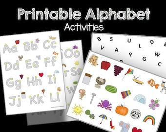 50% OFF SALE Alphabet Practice - PDF - Magnets - Handwriting - Letter names and sounds - Preschool - Kindergarten