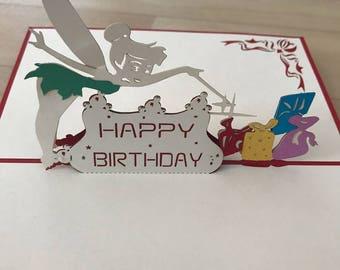Pop Up 3d card Tinkerbell
