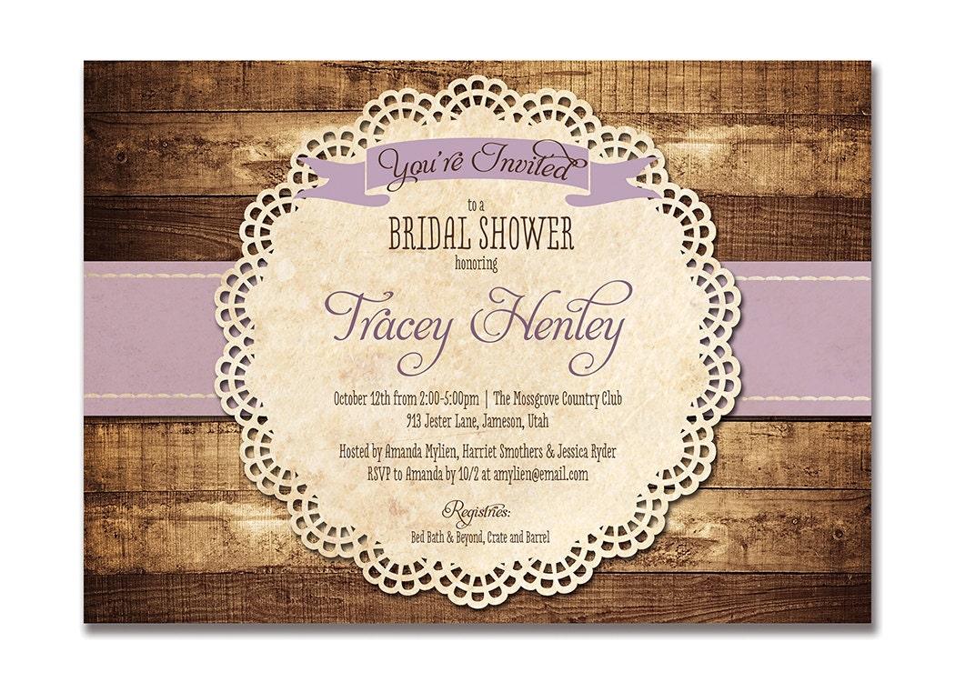 zoom - Rustic Wedding Shower Invitations