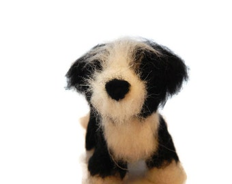 Personalised Dog Sculpture, Needle Felted Bearded Collie, Beardie or any breed of Cat, Dog or Horse of Your Choice Made To Order