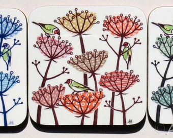 Coaster - Goldfinch - three colours to choose from
