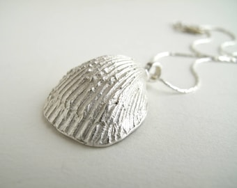 Shell Pendant Sterling Silver Shell Necklace Real Shell Jewelry For Wedding