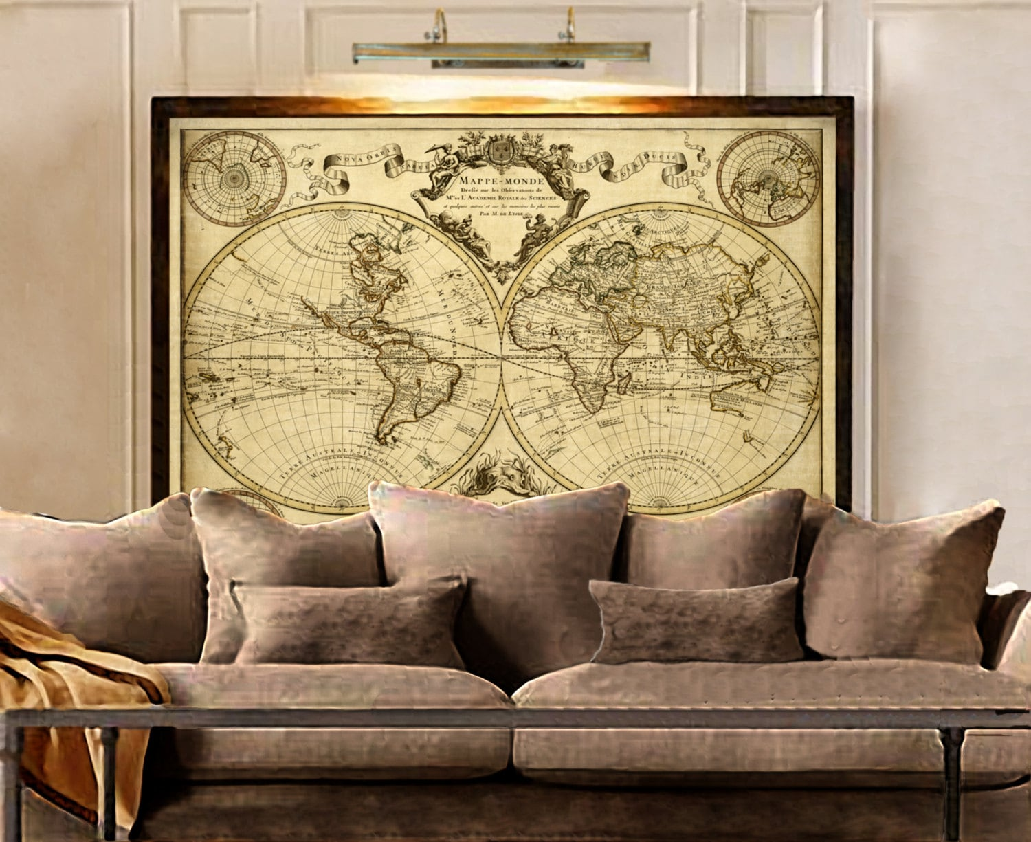 Lisles 1720 old world map historic map antique style zoom gumiabroncs Gallery