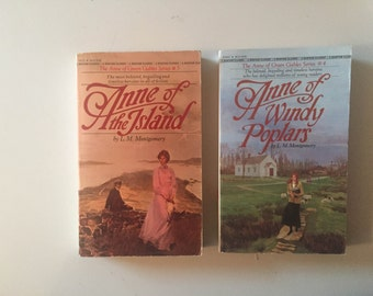Lot of 2 Anne of Green Gables L. M. Montgomery Set (80's Paperbacks)