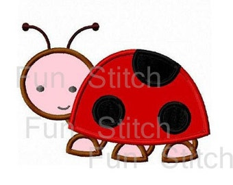 Ladybug applique machine embroidery design