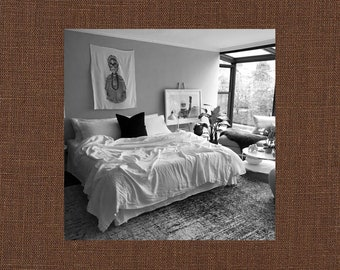 True Brown Linen Coverlet - Bold Bedding - Made to Order in the USA