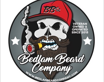 Bedlam Beard Company Stickers