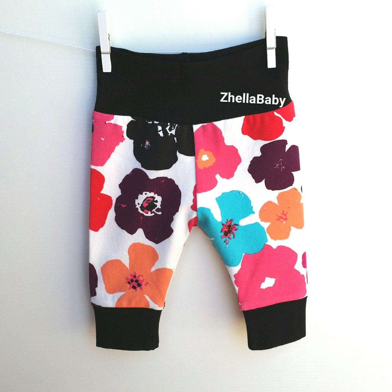 Black Floral Baby Leggings Floral Leggings Baby Girl