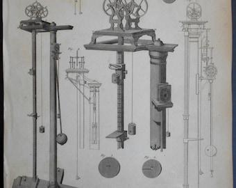 1820 Mechanics Engraving: Original Antique Print.