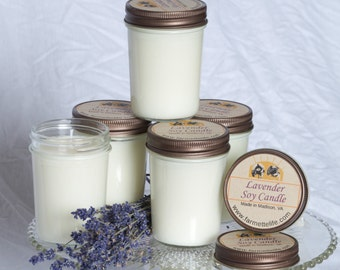 Lavender Soy Candle, Vanilla Soy Candle, Orange Soy Candle, Lemon Soy Candle, 100% Soy Candle, Handmade Soy Candle,