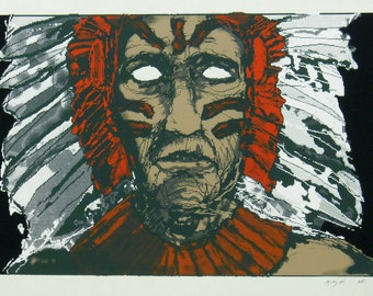 CHIEF silkscreen art print, limited edition