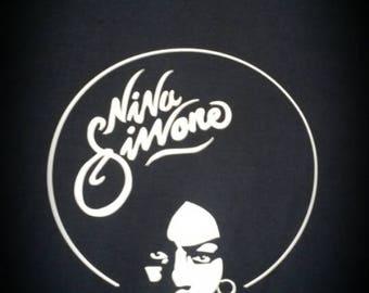 Nina Simone Printed T-shirt Top Rare Vintage Style Soul Jazz Funk Single Vinyl LP Record Album 7s R'N'B CD Black Power Black Gold 70s 60s