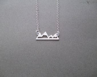 Silver Mountains Charm Necklace