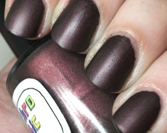 Not A Lady Nail Polish - matte/leather finish deep rusty red