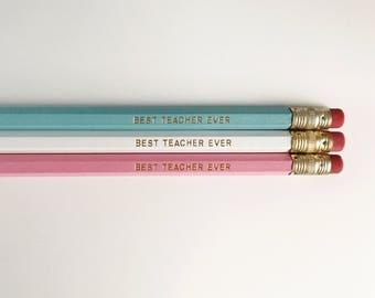Best Teacher Ever Pencils (MILKSHAKE)