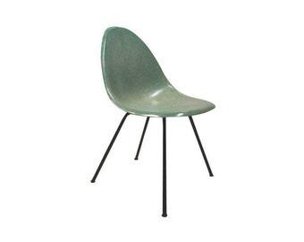 Early Mid Century Green Fiberglass Shell Chair