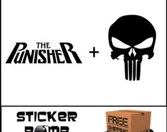 The Punisher Decal Set Sticker Marvel Comics DC JDM Marines