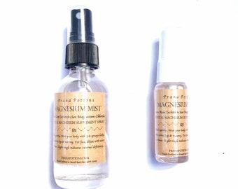 Magnesium Oil Mist: nutritive magnesium mist - sleep + inflammation tissue repair topical body spray | rose quartz transdermal magnesium oil