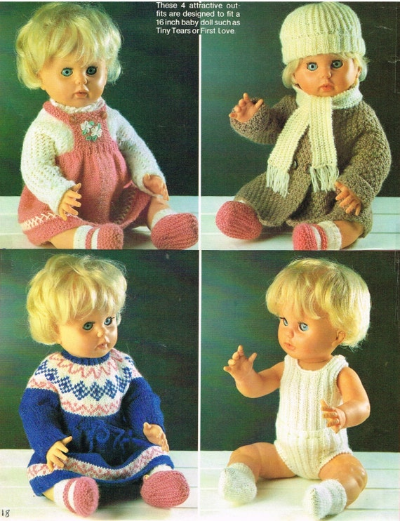 Dolls Clothes Knitting Pattern16 Doll Baby Born And Anabelle