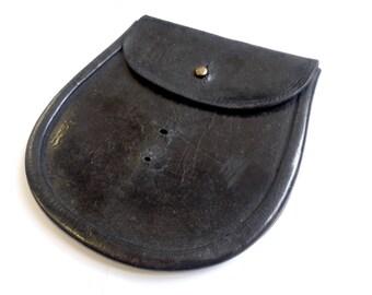 Royal Regiment of Scotland Sporran - Vintage - Old - Leather