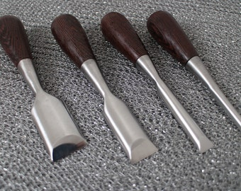 Small Butt Palm Roundback Chisel Set Fine Woodworking Wenge Luthier