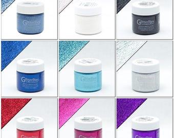 Angelus Glitterlites Paint Leather Vinyl Fabric Paint Flexible Glitter Coat 1 oz