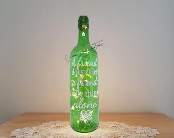 Lit Bottle Kit, A  Friend Doesn't Let..., Bottle Lamp, Wine Bottle Light, Bottle Light, Table Decor, Unusual Gift, Craft Kit, Crafty Creases